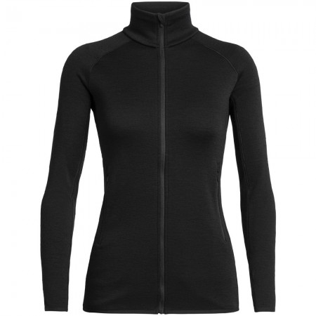 Icebreaker Elemental Long Sleeve Zip Jacket - Black