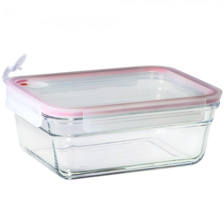 Glasslock Oven Safe Aircap Container 1710ml - Rectangle Red