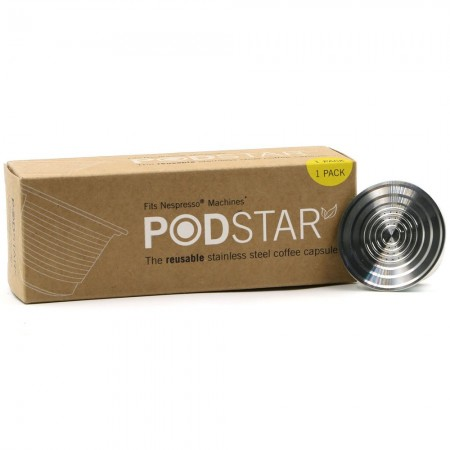 Pod Star Reusable Stainless Steel Coffee Capsule - Nespresso