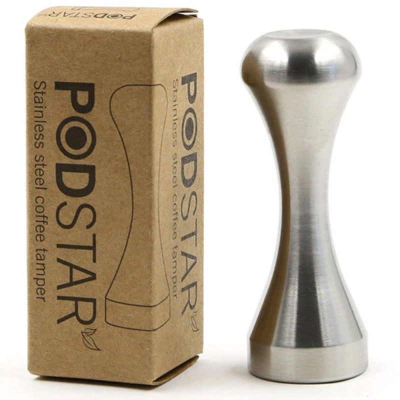 Pod Star Solid Stainless Steel Coffee Tamper