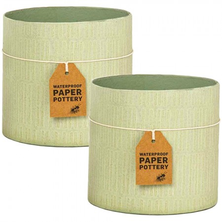 EcoMax Paper Pottery Cabarita Pot Set Medium (2) - Pistachio