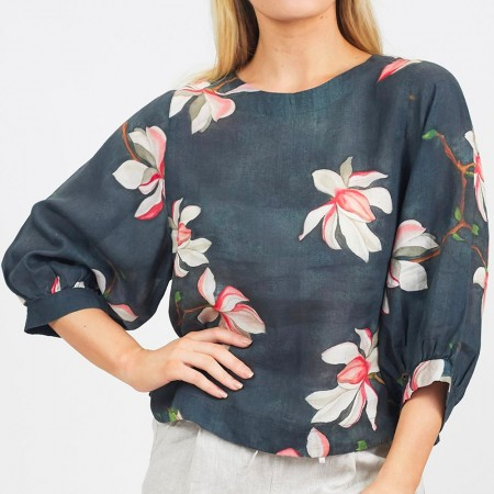 Naturals by O & J Ramie Floral Top