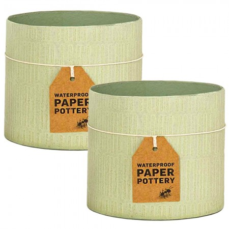 EcoMax Paper Pottery Cabarita Pot Set Small (2) - Pistachio