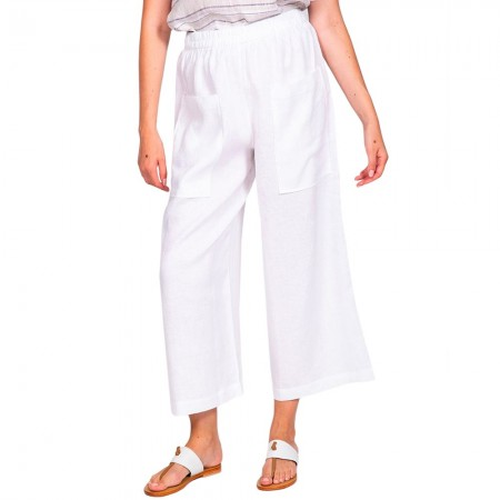 Naturals by O & J Linen Culottes - White