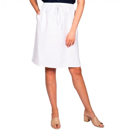 Naturals by O & J Linen Skirt - White