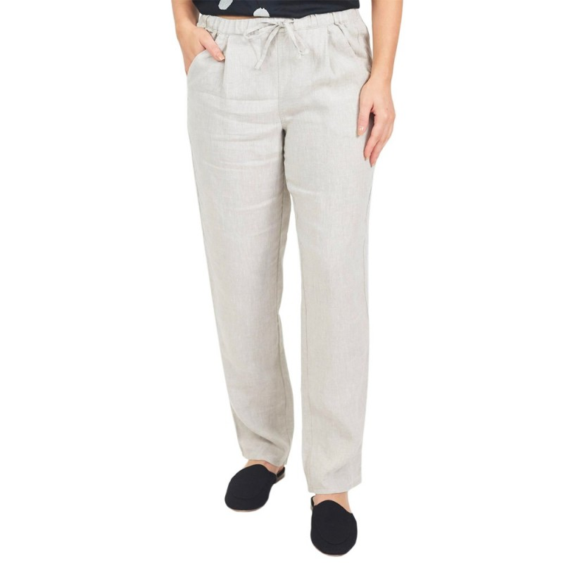 Naturals by O & J Classic Linen Pant - Sand