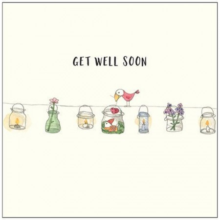 Kate Knapp Greeting Cards - Get Well Soon (Wire)