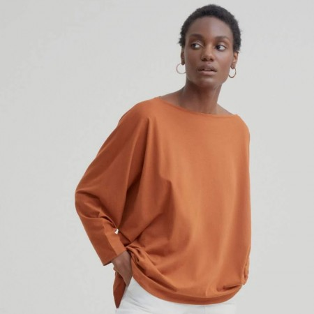 Kowtow Relaxed Boat Neck Top - Copper