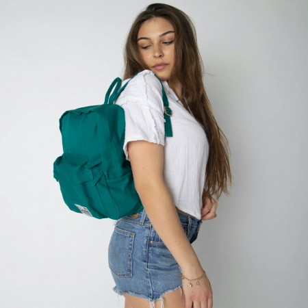 Terra Thread Organic Cotton Zem Mini Backpack - Teal