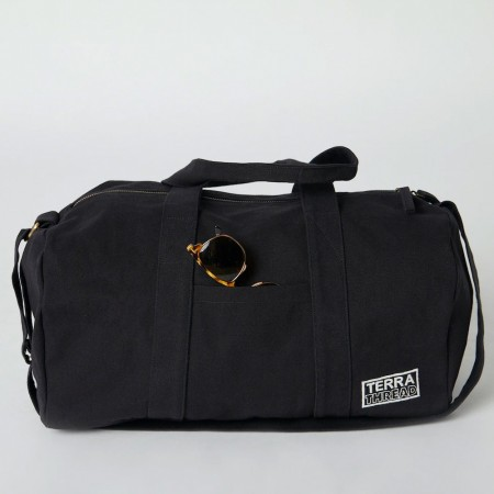 Terra Thread Organic Cotton Aarde Gym Bag - Black