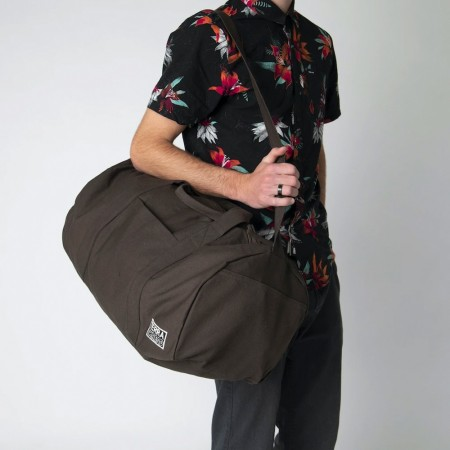 Terra Thread Organic Cotton Bumi Duffel Bag - Brown