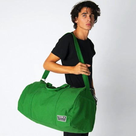Terra Thread Organic Cotton Bumi Duffel Bag - Green
