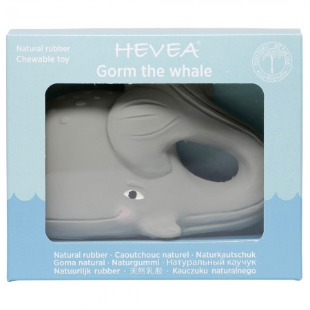 Hevea Gorm the Whale Natural Rubber Teether