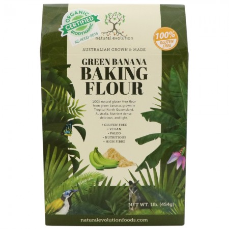Natural Evolution Organic Biodynamic Green Banana Baking Flour 454g