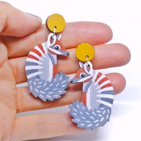Pixie Nut and Co Numbat Earrings