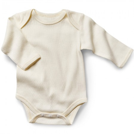 Fibre For Good Organic Cotton Long Sleeve Bodysuit - Natural White
