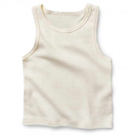 Fibre For Good Organic Cotton Singlet - Natural White