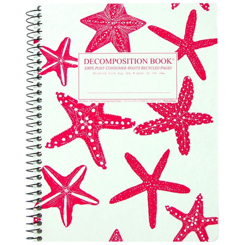 Decomposition Large Spiral Notebook (Lined) - Starfish