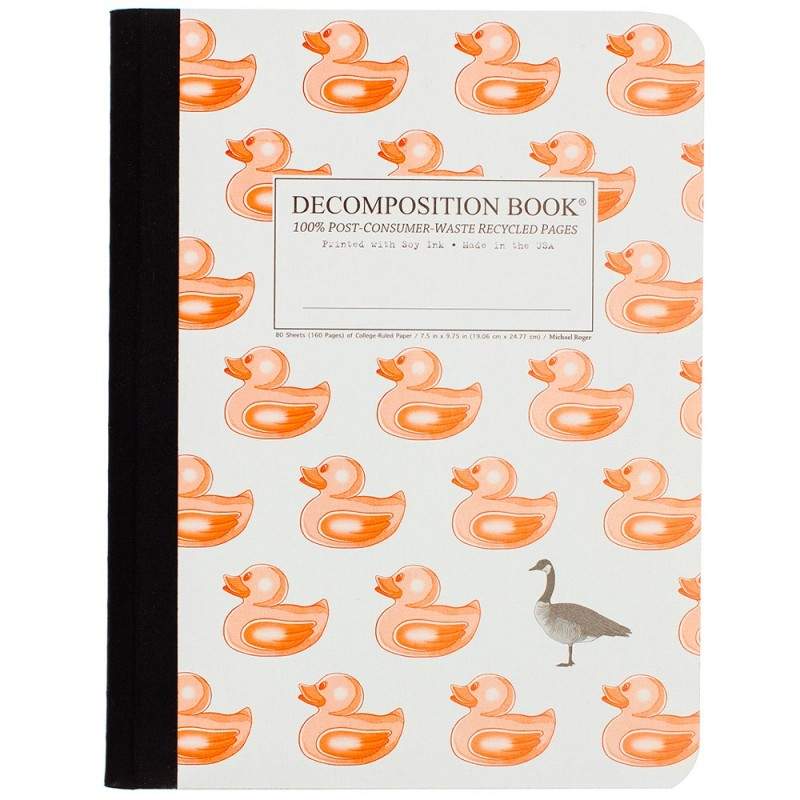 Decomposition Large Bound Notebook (Lined) - Duck Duck Goose
