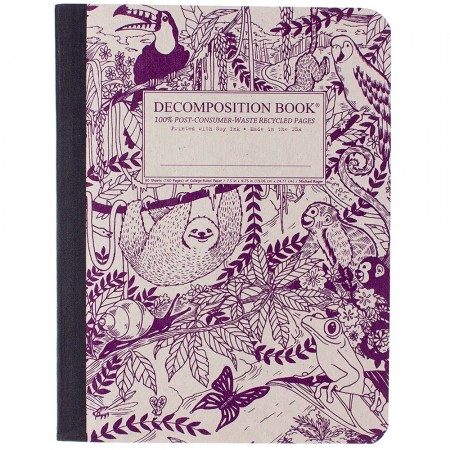 Decomposition Large Bound Notebook (Lined) - Rainforest