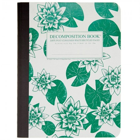 Decomposition Large Bound Notebook (Lined) - Lily Pads