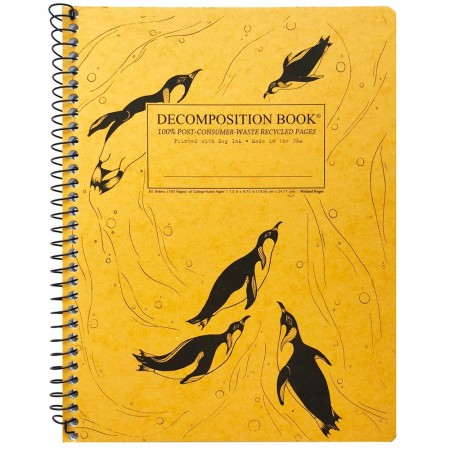 Decomposition Large Spiral Notebook (Lined) - King Penguins