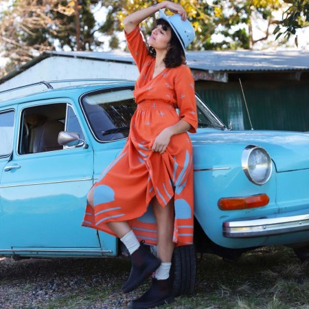 Frank & Dollys Star Dress - Burnt Orange
