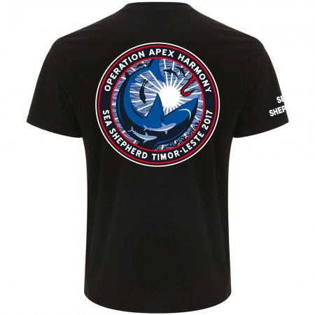 Sea Shepherd Apex Harmony Organic Cotton Unisex Tee - Black