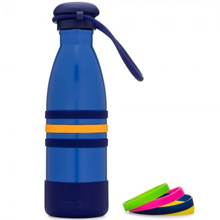 Yumbox Aqua Insulated Drink Bottle - Ocean Blue