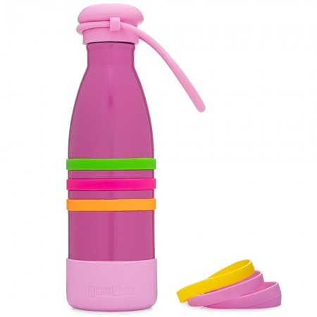 Yumbox Aqua Insulated Drink Bottle - Pacific Pink