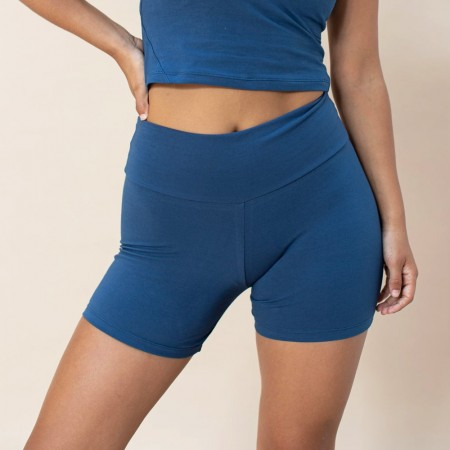 Indigo Luna Ananda Organic Cotton Yoga Shorts - French Blue