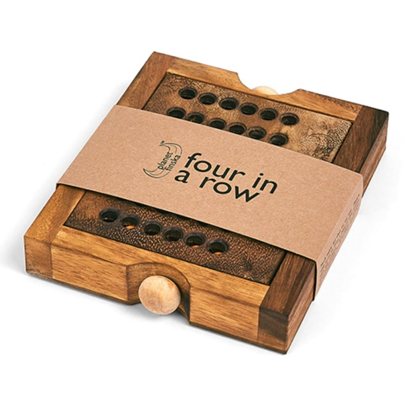 Four-in-a-Row travel classic wooden game by Planet Finska