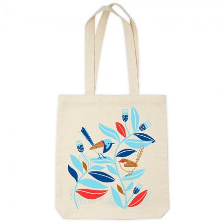 Earth Greetings Organic Cotton Tote Bag - Peaceful Wrens