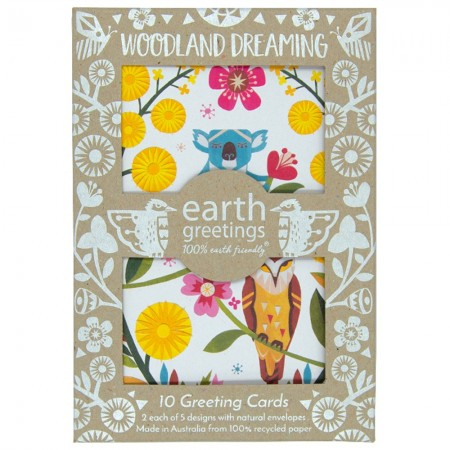 Earth Greetings Card 10 Pack - Woodland Dreaming