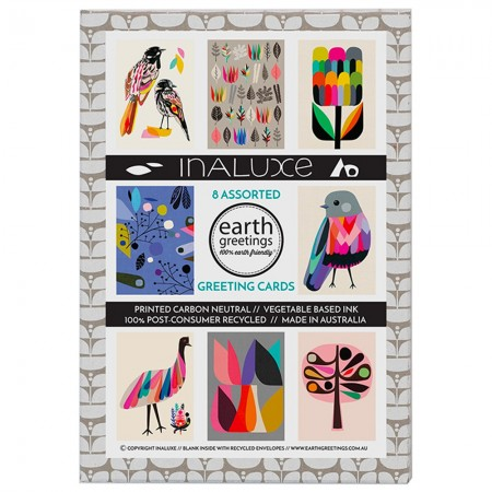 Earth Greetings Assorted Card 8 Pack - Inaluxe