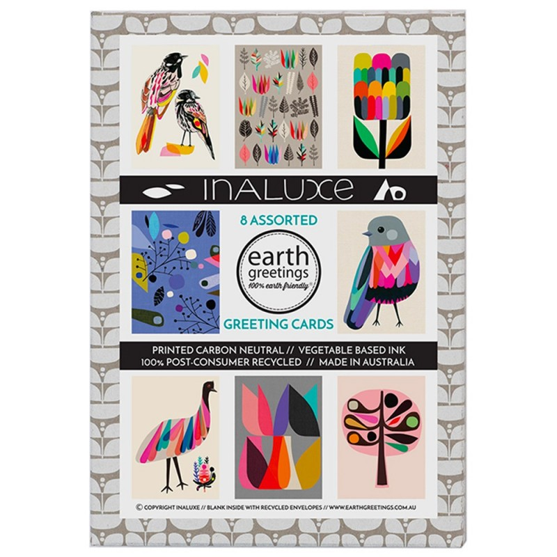 Earth Greetings Card 8 Pack - Inaluxe