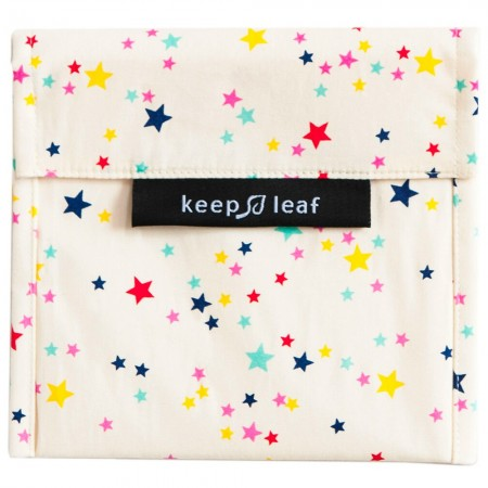 Keep Leaf Large Reusable Baggie - Stars