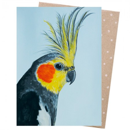 Earth Greetings Card - Louis Cockatiel