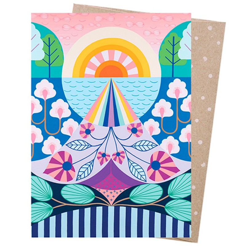 Earth Greetings Card - Look To The Light