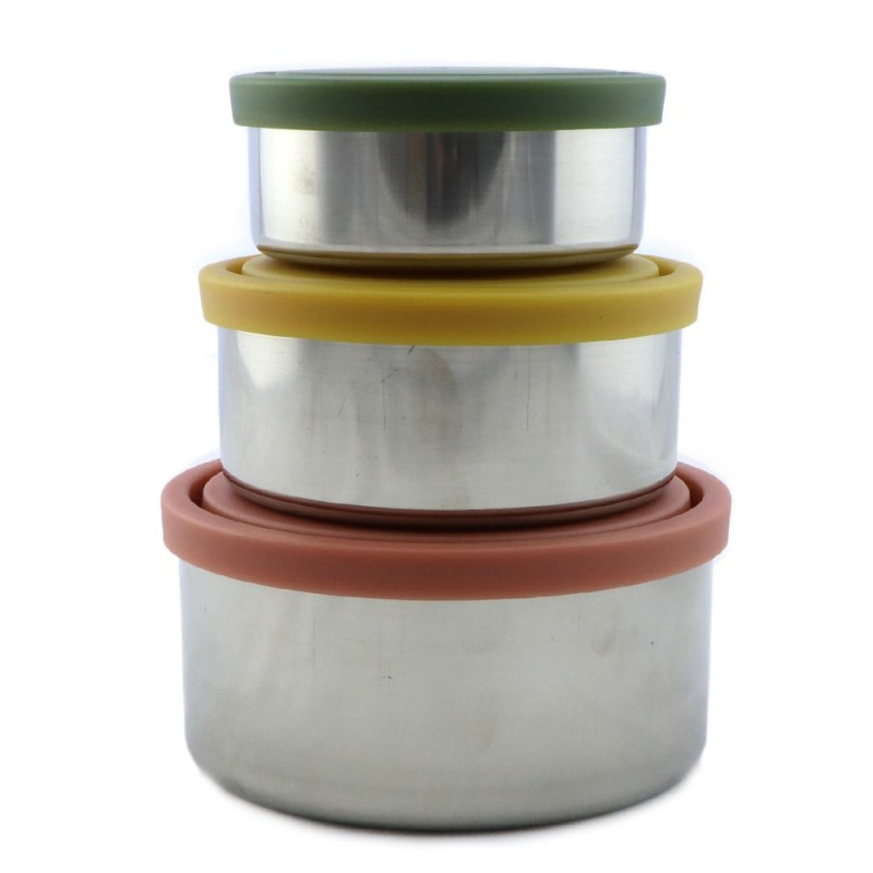 Ever Eco Stainless Steel Round Containers Set of 3 - Autumn
