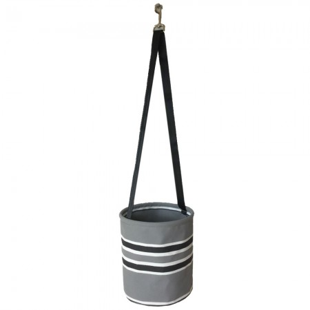Sewroo Canvas Peg Bag - Grey Stripe