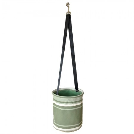 Sewroo Canvas Peg Bag - Green & White