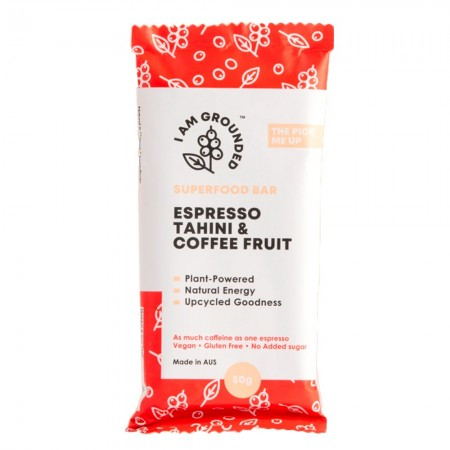 I Am Grounded Superfood Bar 50g - Espresso, Tahini & Coffee Fruit