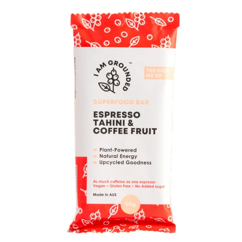 Coffee Fruit Bar 'the Pick Me Up' 50g - Espresso, Peanut Butter & Coffee Fruit