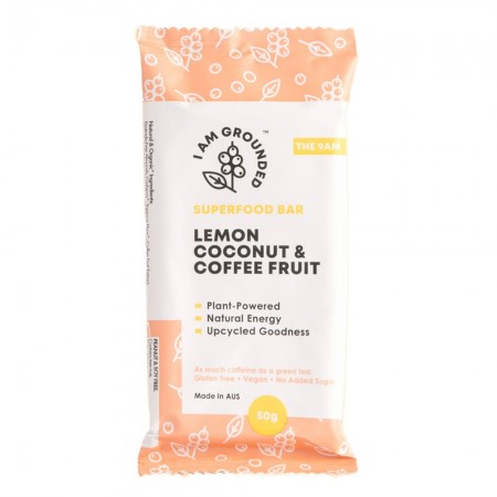 I Am Grounded Superfood Bar 50g - Lemon, Coconut & Coffee Fruit