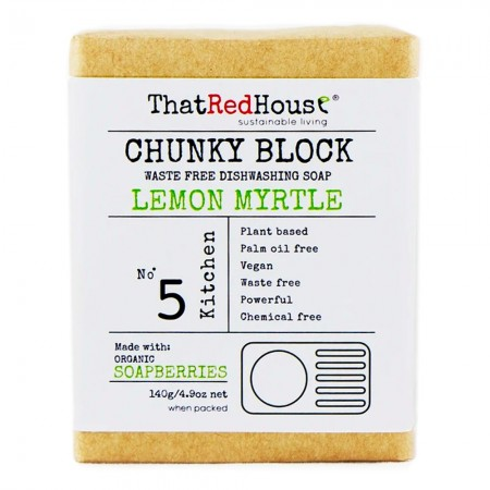 That Red House Chunky Block Dishwashing Soap 140g - Lemon Myrtle