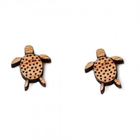 One Happy Leaf Turtle Studs