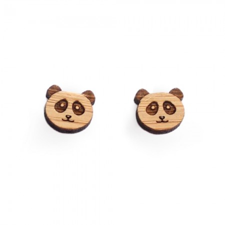 One Happy Leaf Panda Studs