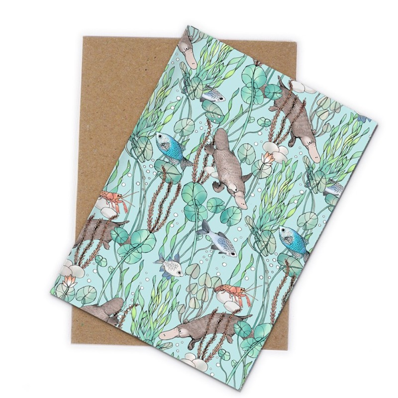 The Scenic Route Greeting Card - Platypus Creek