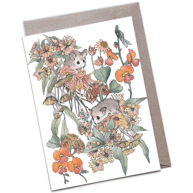 The Scenic Route Large Greeting Card - Pygmy Possums